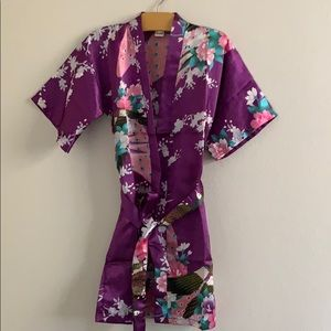 Toddler Girls Asian Flower Printed Robe...